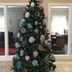 Christmas Tree Setup in the Rocky Mount, VA Fidelity Bank Branch