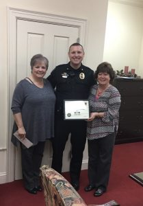 Bank Associates in Roxboro NC Being Awarded by Police Chief