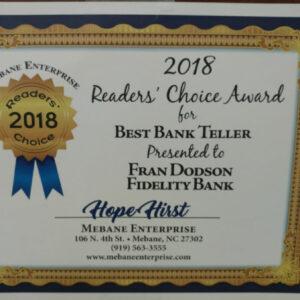 2018-Best-Bank-Teller-Fran-pic