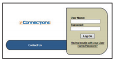 E-Connections Login Page
