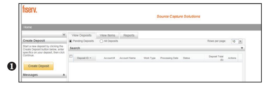 Contemporary Remote Deposit Create Deposit screen shot of step 2