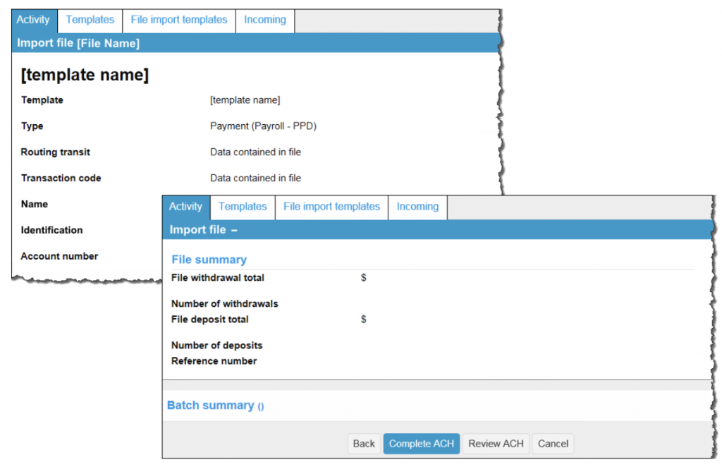 Screen shot of step 4.2 Import Non-NACHA Complete ACH