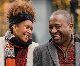 Happy Couple community bank values