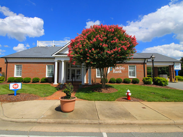 An image of a sunny day at the Gibsonville bank