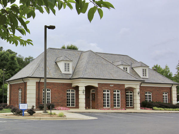 An image of a sunny day at the Morrisville bank