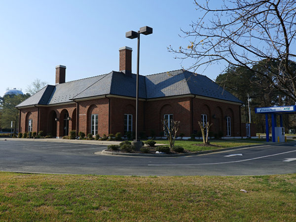 An image of a sunny day at the Sanford bank