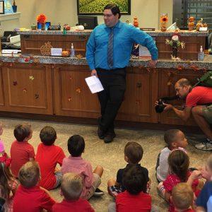 Fidelity Bank associates visiting Grace Christian School
