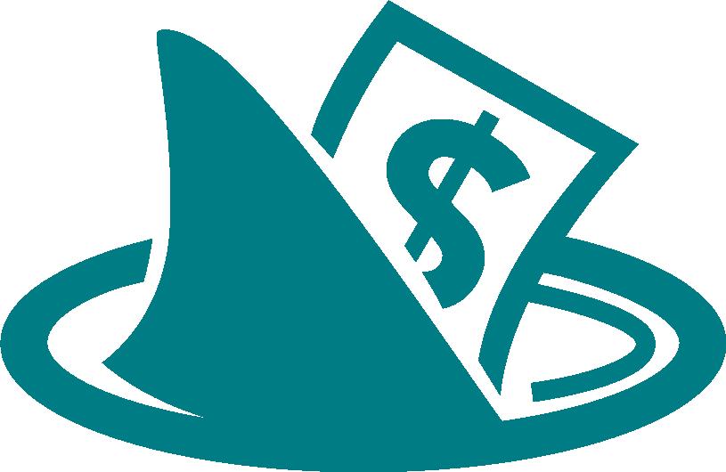 Image Shark Fin and Money Symbol